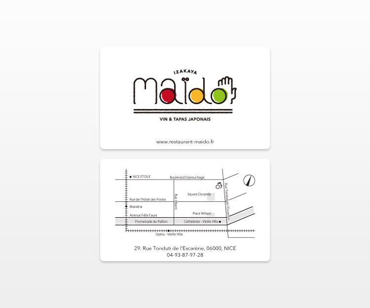 maïdo ショップカード